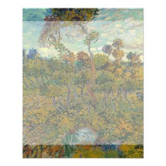 Puesta del sol en Montmajour de Vincent van Gogh Tarjetones