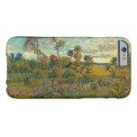 Puesta del sol en Montmajour de Vincent van Gogh Funda De iPhone 6 Barely There