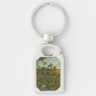 Puesta del sol en Montmajour de Vincent van Gogh Llaveros