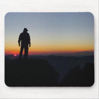 Puesta del sol en Mt Whitney - el rastro de John Alfombrilla De Ratones