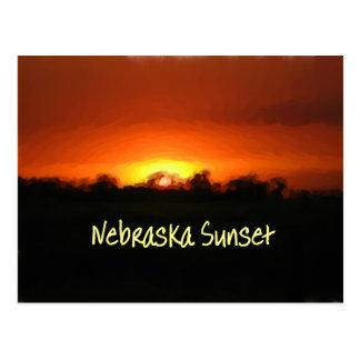 Puesta del sol en Nebrask Tarjetas Postales
