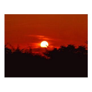 Puesta del sol en paraíso postal