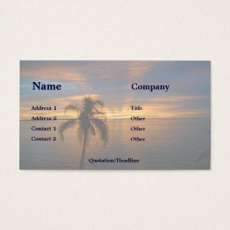 Puesta del sol en paraíso tarjetas de visita