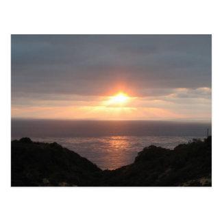 Puesta del sol en Point Loma Postales