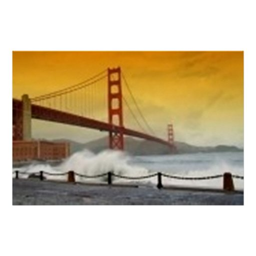 Puesta del sol en puente Golden Gate, San Francisc Póster