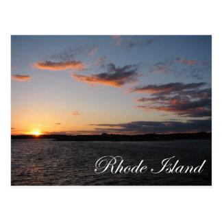 Puesta del sol en Rhode Island Tarjetas Postales