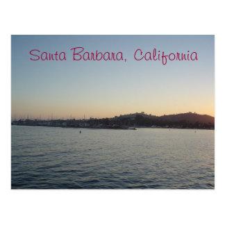 Puesta del sol en Santa Barbara Postales
