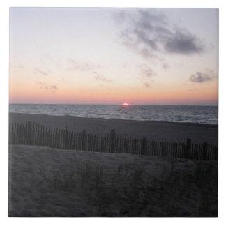puesta del sol en teja del lago dos-hearted, Michi
