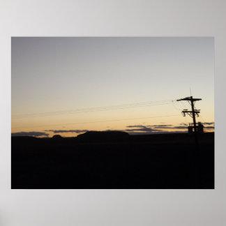Puesta del sol en Tejas Póster
