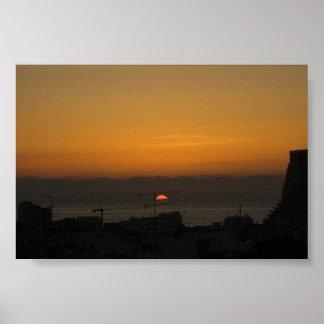 Puesta del sol en Tel Aviv Póster