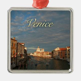 Puesta del sol en Venecia Italia Adorno De Navidad