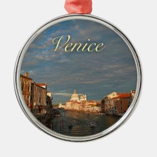 Puesta del sol en Venecia Italia Ornamento De Reyes Magos