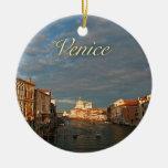 Puesta del sol en Venecia Italia Ornaments Para Arbol De Navidad