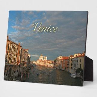 Puesta del sol en Venecia Italia Placas De Plastico
