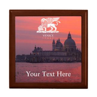 Puesta del sol en Venecia Joyero Cuadrado Grande