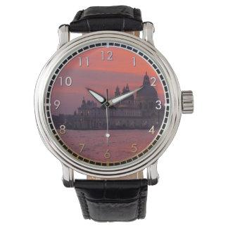 Puesta del sol en Venecia Reloj