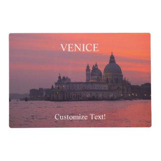 Puesta del sol en Venecia Tapete Individual