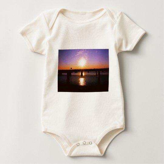 Puesta del sol en Virginia Body Para Bebé