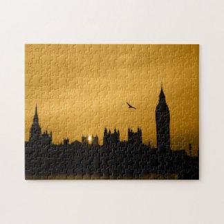 Puesta del sol en Westminster - Big Ben - Puzzle Con Fotos