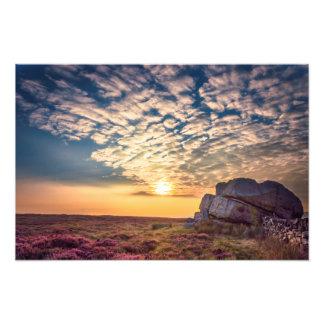 Puesta del sol enganchando la piedra fotografía