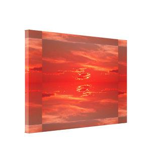 Puesta del sol: Escarlata SDL rojo Impresiones En Lona