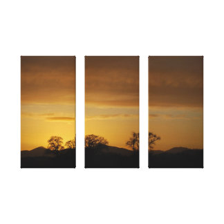 Puesta del sol escocesa impresión en lona