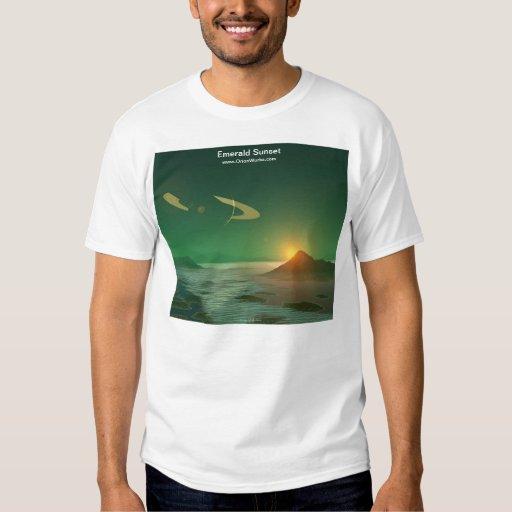Puesta del sol esmeralda playeras