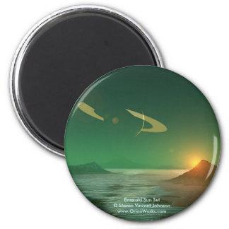 Puesta del sol esmeralda, Sun esmeralda Steven Imán Redondo 5 Cm