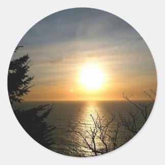 Puesta del sol etiqueta