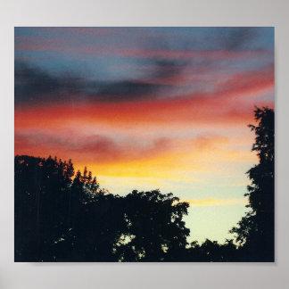 Puesta del sol exquisita - lona póster