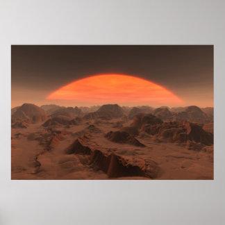 puesta del sol extranjera no.2 póster
