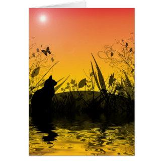 Puesta del sol Fanatsyland Tarjeta De Felicitación