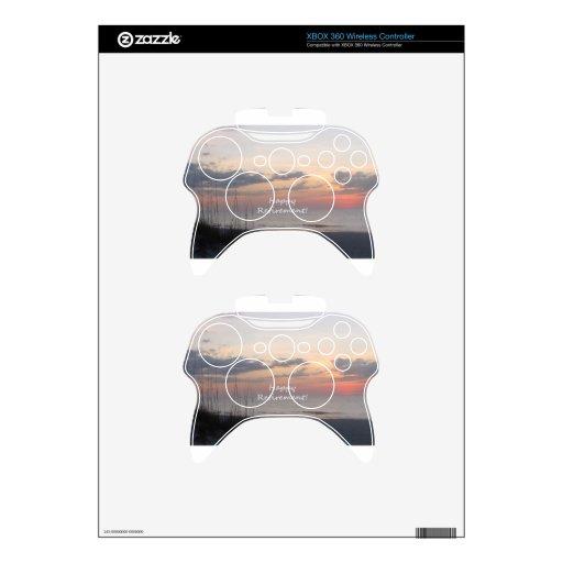 Puesta del sol feliz de la playa del retiro mando xbox 360 skins