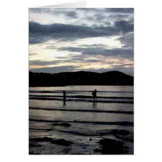 Puesta del sol filamento de Narin condado Donega Felicitaciones