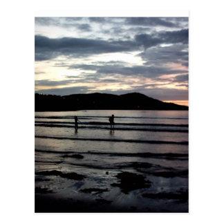 Puesta del sol filamento de Narin condado Donega Postales
