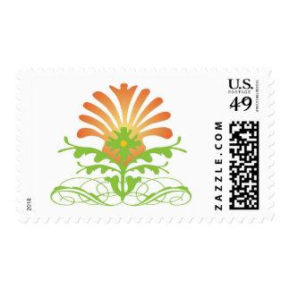 Puesta del sol floral sello