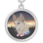Puesta del sol fornida patriótica del perro grimpola personalizada