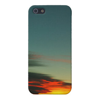 Puesta del sol frecuencia intermedia iPhone 5 fundas