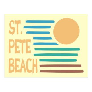 Puesta del sol geométrica de la Florida de la play Tarjetas Postales