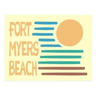 Puesta del sol geométrica de la Florida de la Tarjetas Postales