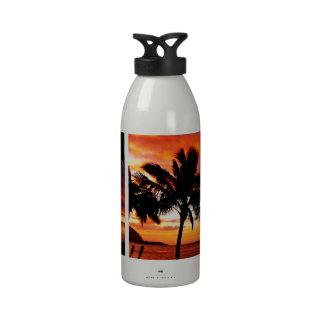 Puesta del sol hawaiana botellas de beber