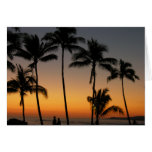 Puesta del sol hawaiana felicitaciones