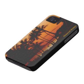 Puesta del sol hawaiana iPhone 4 Case-Mate carcasas