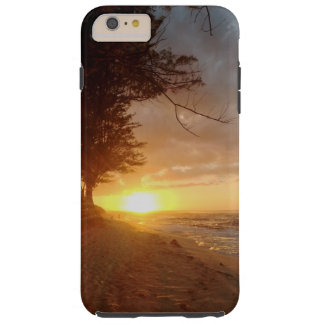 Puesta del sol hawaiana funda para iPhone 6 plus tough