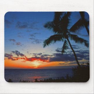 Puesta del sol hawaiana Mousepad Tapetes De Ratones