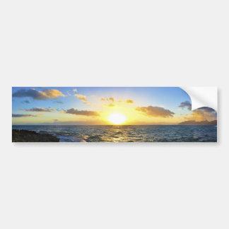 Puesta del sol hawaiana pegatina de parachoque