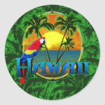 Puesta del sol hawaiana pegatinas