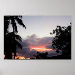 Puesta del sol hawaiana posters