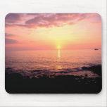 Puesta del sol hawaiana tapetes de raton