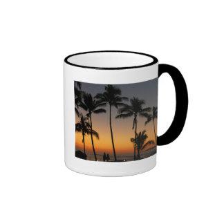 Puesta del sol hawaiana taza de café